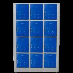 Armário Vestiário Alto Padrão / Guarda Volumes com 3 Módulos e 12 Portas – Linha LOCKER ROOM